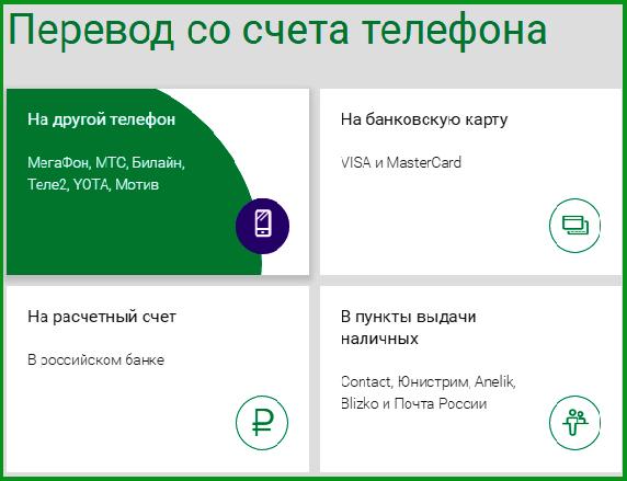 Как сделать мобильный перевод в мегафон