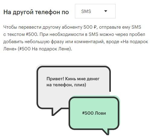Как перевести деньги с мегафона на мегафон смс-сообщением