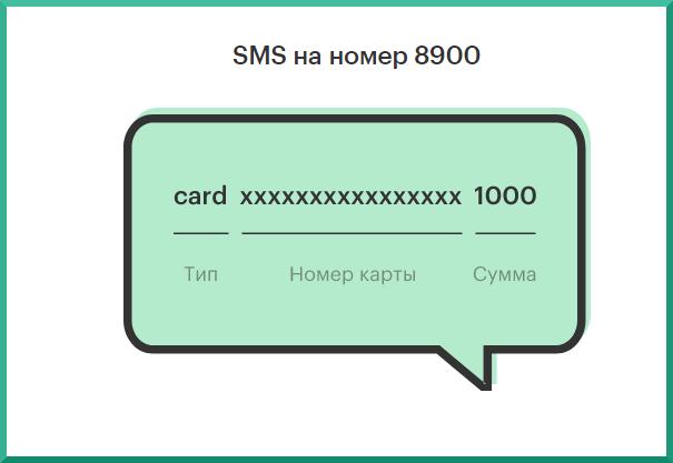 с помощью смс пополнение карты сбера с мегафона
